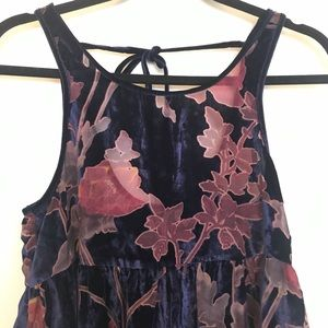 Urban Outfitters Dresses - UO Velvet Burn Out Floral Tank Mini Dress Sz Small